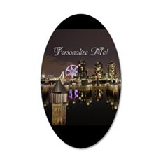 Docklands at Night Melbourne 20x12 Oval Wall Decal