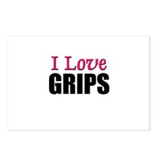I Love GRIPS Postcards (Package of 8)