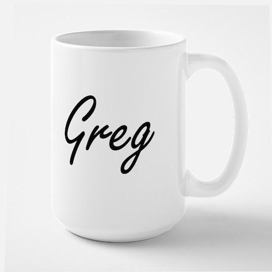 Greg Artistic Name Design Mugs