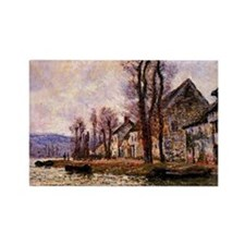 Monet painting - The Bend of the  Rectangle Magnet