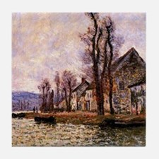 Monet painting - The Bend of the Sein Tile Coaster