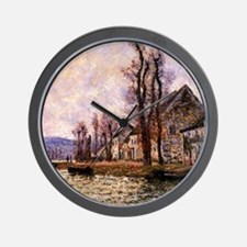 Monet painting - The Bend of the Seine Wall Clock