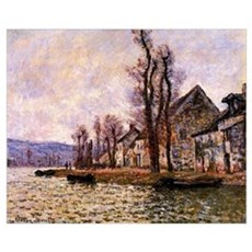 Monet painting - The Bend of the Seine Canvas Art