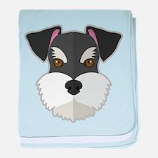 Cartoon Schnauzer baby blanket