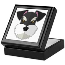 Cartoon Schnauzer Keepsake Box