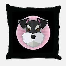 Cartoon Schnauzer Throw Pillow