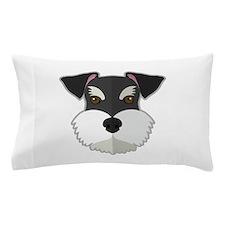 Cartoon Schnauzer Pillow Case