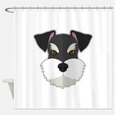 Cartoon Schnauzer Shower Curtain