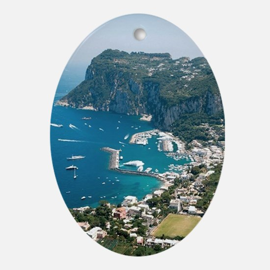 Italy, Capri  Oval Ornament