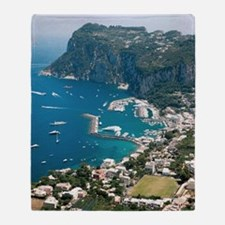 Italy, Capri Throw Blanket