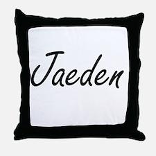 Jaeden Artistic Name Design Throw Pillow