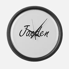 Jaeden Artistic Name Design Large Wall Clock