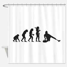 Curling Shower Curtain