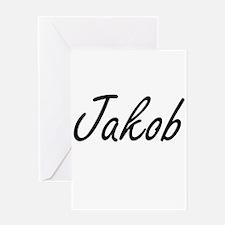 Jakob Artistic Name Design Greeting Cards