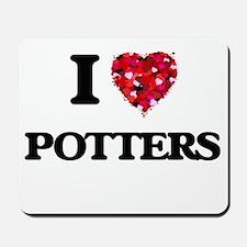 I Love Potters Mousepad