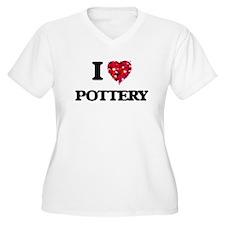 I Love Pottery Plus Size T-Shirt