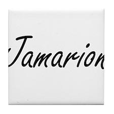 Jamarion Artistic Name Design Tile Coaster