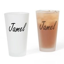 Jamel Artistic Name Design Drinking Glass