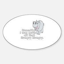 HIPPOPOTAMUS -HIPPO - HONESTLY, I W Decal