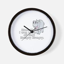 HIPPOPOTAMUS -HIPPO - HONESTLY, I WAS N Wall Clock