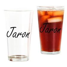 Jaron Artistic Name Design Drinking Glass