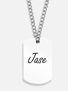 Jase Artistic Name Design Dog Tags