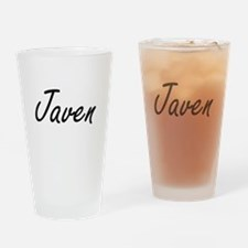 Javen Artistic Name Design Drinking Glass
