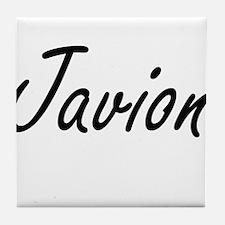 Javion Artistic Name Design Tile Coaster