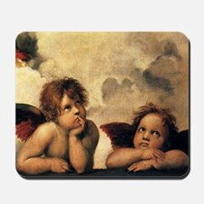 Sistine Madonna Angels by Raphael Mousepad