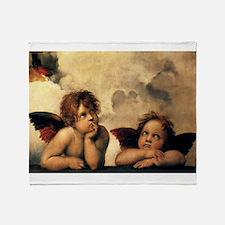Sistine Madonna Angels by Raphael Throw Blanket