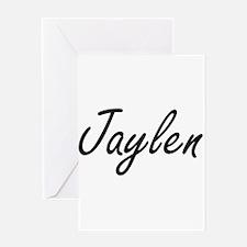 Jaylen Artistic Name Design Greeting Cards