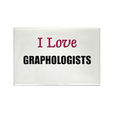 I Love GRAPHOLOGISTS Rectangle Magnet