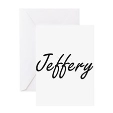Jeffery Artistic Name Design Greeting Cards