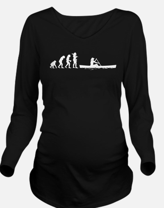 Canoeing Long Sleeve Maternity T-Shirt