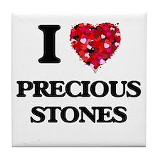 I Love Precious Stones Tile Coaster