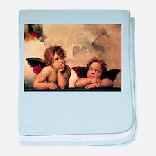 Sistine Madonna Angels by Raphael baby blanket