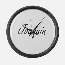 Joaquin Artistic Name Design Large Wall Clock