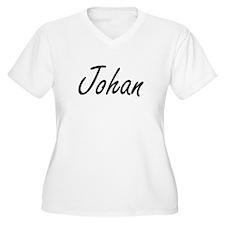 Johan Artistic Name Design Plus Size T-Shirt