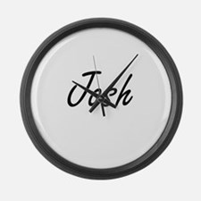 Josh Artistic Name Design Large Wall Clock