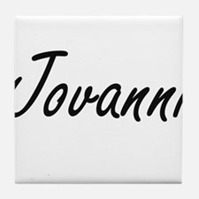 Jovanni Artistic Name Design Tile Coaster