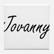 Jovanny Artistic Name Design Tile Coaster