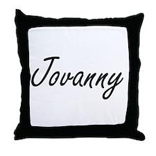 Jovanny Artistic Name Design Throw Pillow