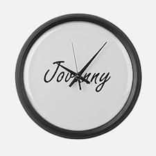 Jovanny Artistic Name Design Large Wall Clock