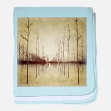abstract landscape winter trees baby blanket
