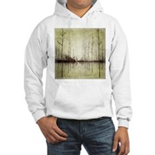 abstract landscape winter trees Hoodie