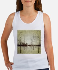 abstract landscape winter trees Tank Top