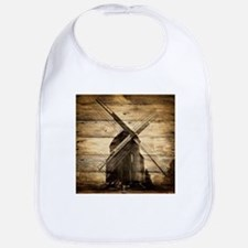 barnwood western country windmill Bib