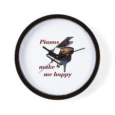 PIANOS Wall Clock