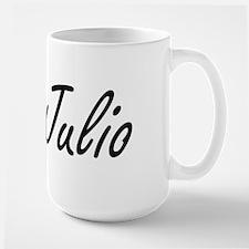 Julio Artistic Name Design Mugs