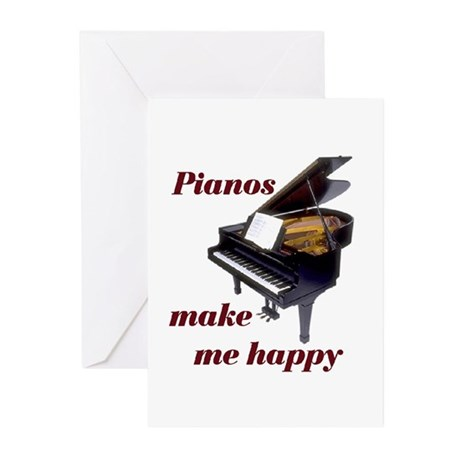 PIANOS Greeting Cards (Pk of 10)